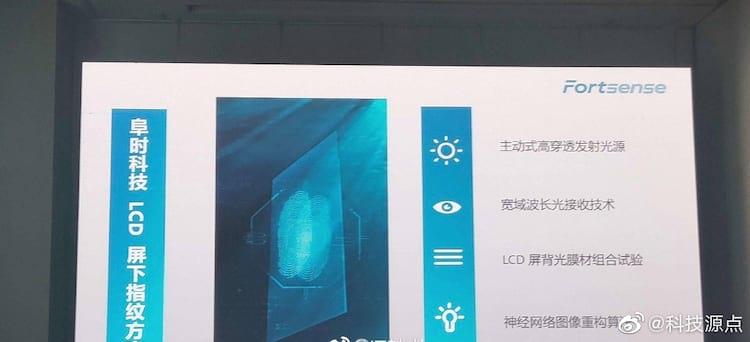 Sensor de impressão digital em monitor LCD
