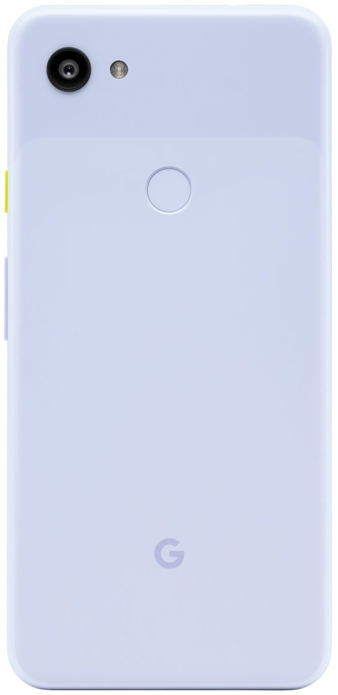 Imagem vazada do novo modelo da Google na versão roxa. Apesar do Photoshop reconhecer uma mistura das cores magenta e ciano, a cor se aproxima visualmente do branco
