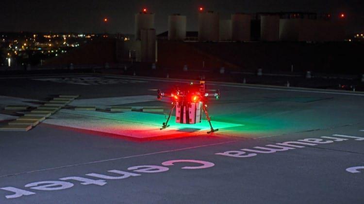 Foto do drone utilizado no experimento