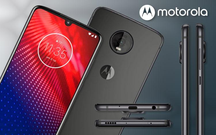 Imagem do novo Motorola Moto Z4 vaza e mostra volta da entrada para fones de ouvido além de manter a compatibilidade com os snaps