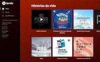 Spotify está incluindo episódios de podcasts junto com recomendações musicais