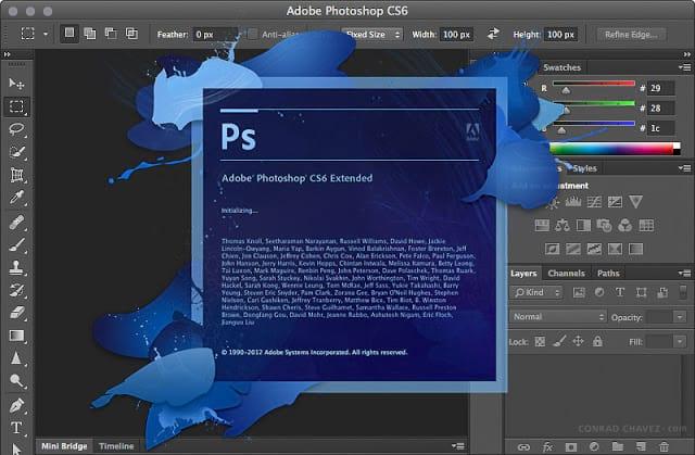 Atualizações constantes - Photoshop