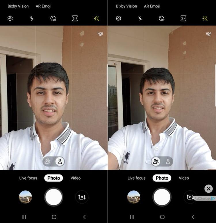 Nova atualização do Galaxy S9 permite que usuários mudem o campo de visão ao tirarem selfies