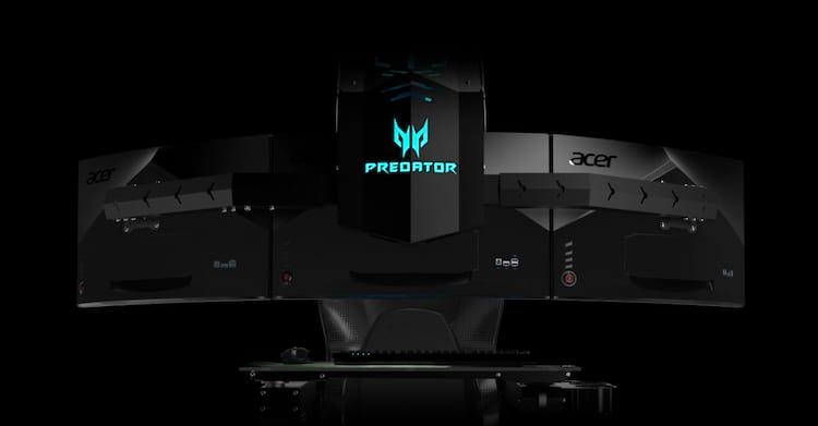 Acer Predator Thronos traz três monitores de 27 polegadas cada