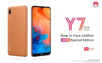 Huawei lança Y7 Prime (2019) em edição limitada com traseira que imita couro
