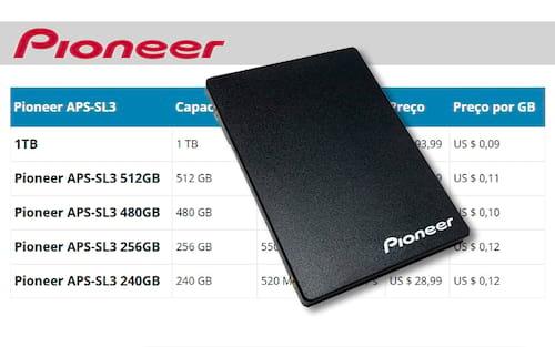 Pioneer APS-SL3: Conheça o SSD com melhor custo/benefício do mercado