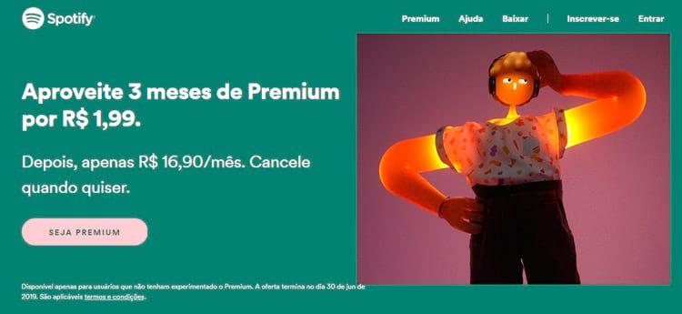 Spotify PREMIUM por R$ 1,99