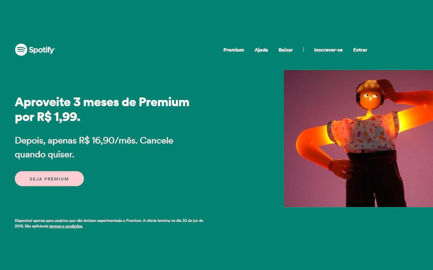 Spotify Premium por apenas R$ 1,99 por mês, veja como