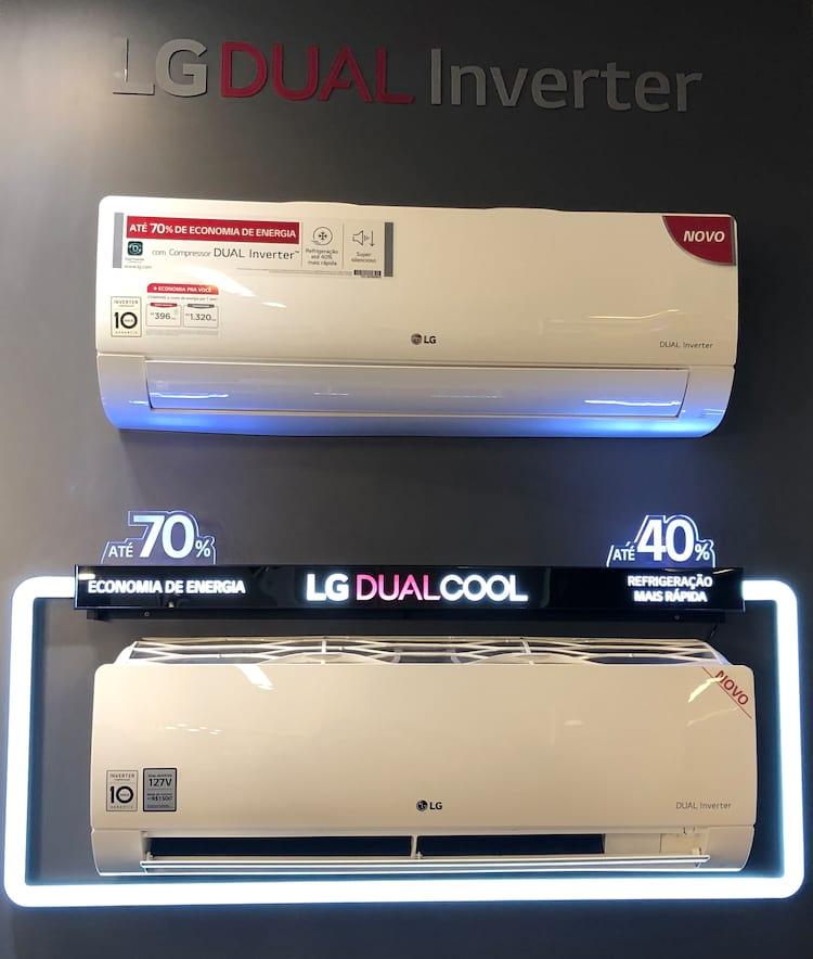 LG Dual Inverter oferece até 70% mais economia e refrigera o ambiente até 40% mais rápido