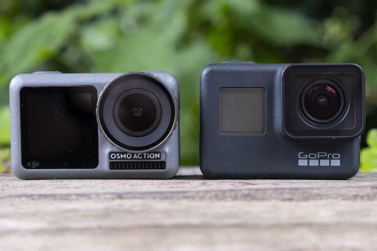 Osmo Action e GoPro não só são semelhantes quanto ao design, mas diversas especificações. No entanto, em alguns quesitos a Osmo Action se destaca.