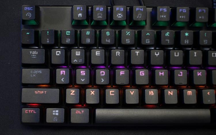 Keycaps estão alinhadas