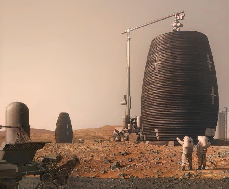 Protótipo de três metros de altura foi construído na fase final da competição.