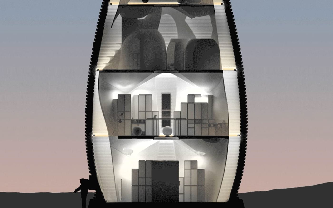 Agência norte-americana propõe novo tipo de habitação em Marte e vence concurso