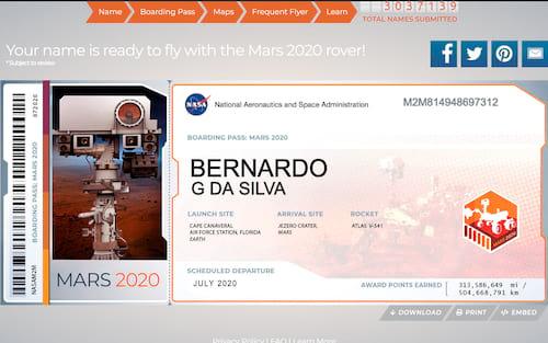 Quer saber como enviar seu nome para Marte? Pergunte a NASA!