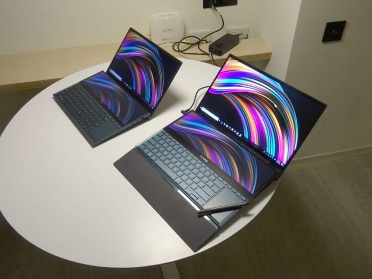 Novos notebooks Asus com tela dupla