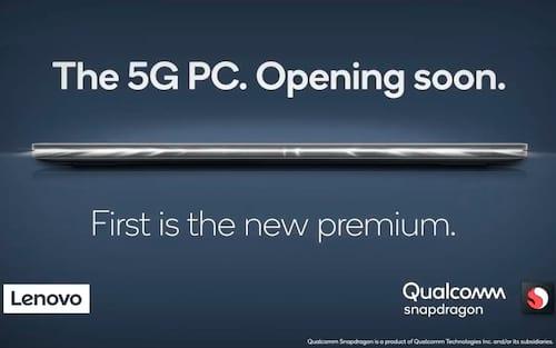 Lenovo e Qualcomm apresentam o primeiro notebook 5G do mundo
