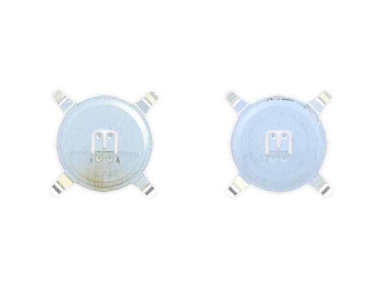 Interruptor metalico - a esquerda a versão antiga e a direita a nova