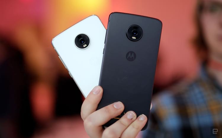 Cores disponiveis do Moto Z4 (Foto por Engadget)