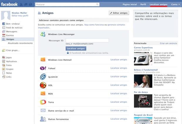 Como adicionar amigos no Facebook
