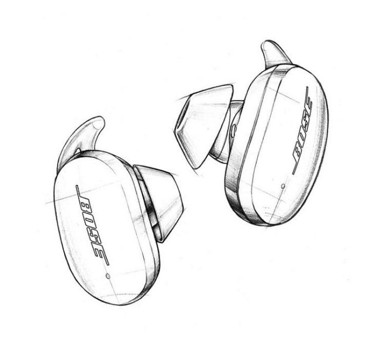Esboço do In-Ear True Wireless Bluetooth Bose Earbuds 500