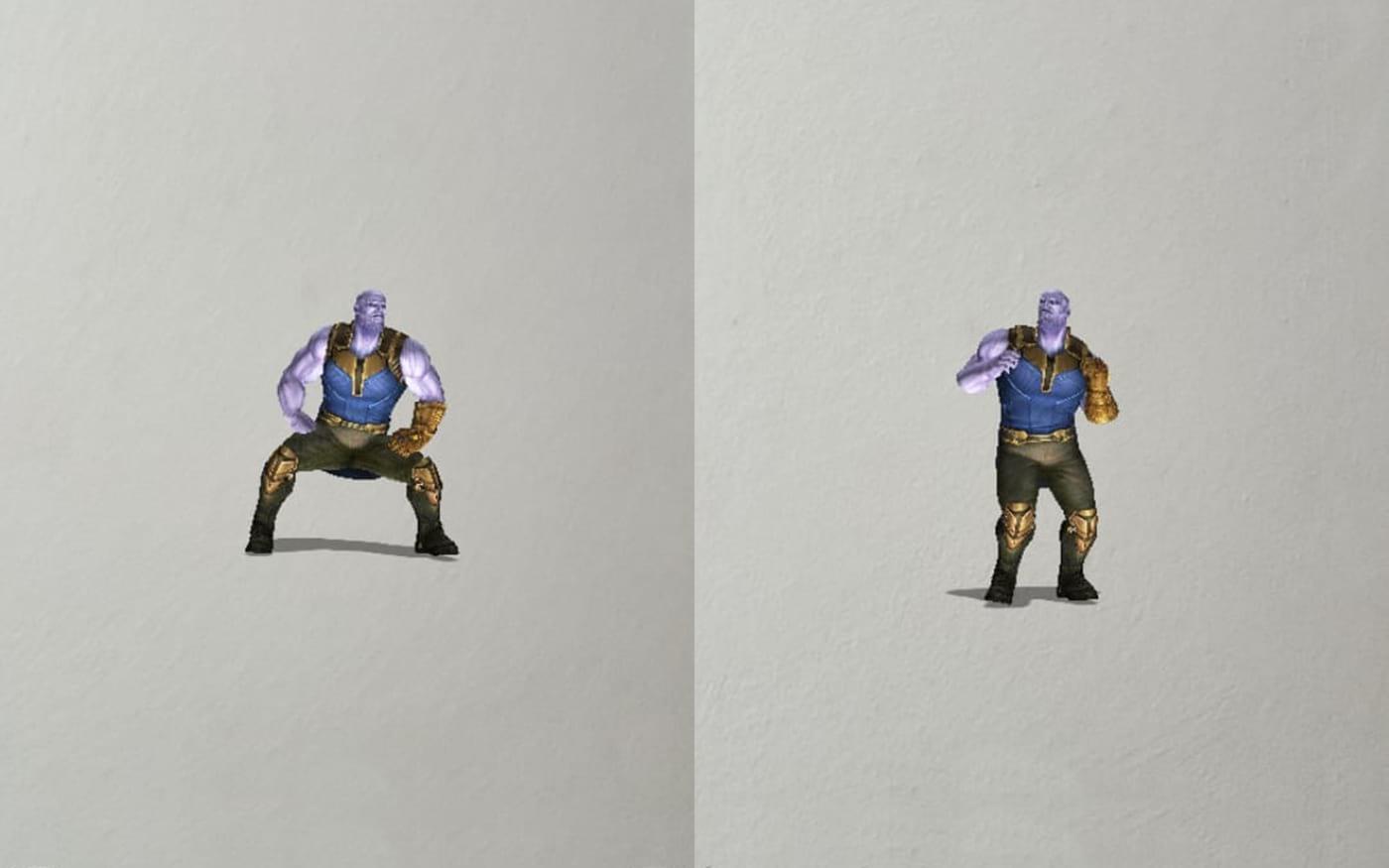 Como usar o filtro do Thanos dançando no Snapchat