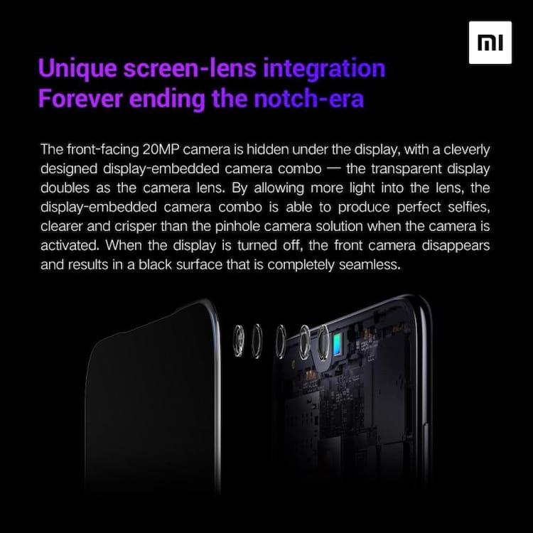 Xiaomi apresenta nova tecnologia de câmera frontal