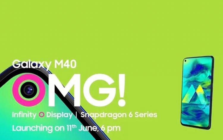 Galaxy M40 será revelado em 11 de junho