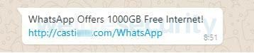 Golpe dos 1000 GB de internet no WhatsApp