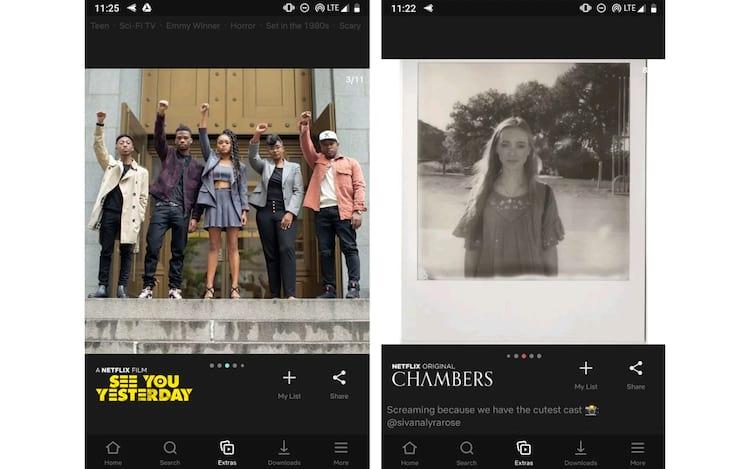 """A aba """"Extras"""" mostrará fotos e vídeos de diversos programas!"""