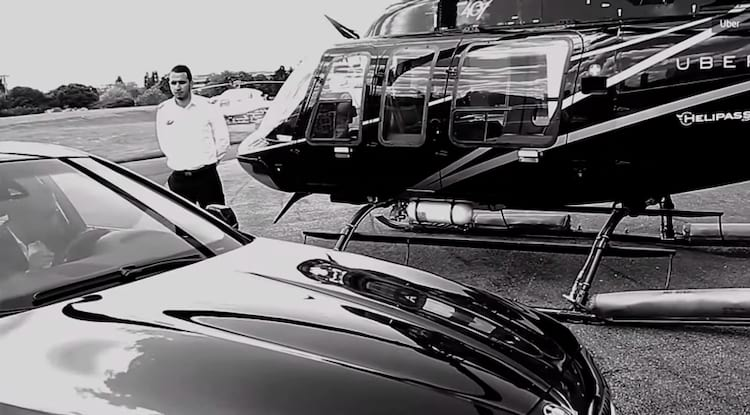 Transfer entre o heliponto e o aeroporto são garantidos com carros Uber
