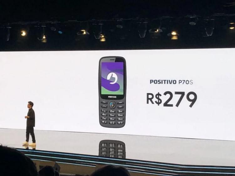 Evento de lançamento do novo celular P70S