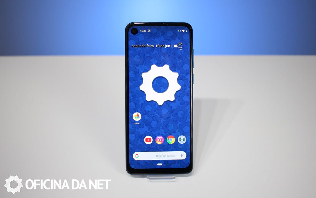 Tela do Motorola One Vision