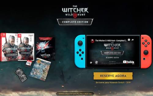 The Witcher 3 está chegando ao Nintendo Switch