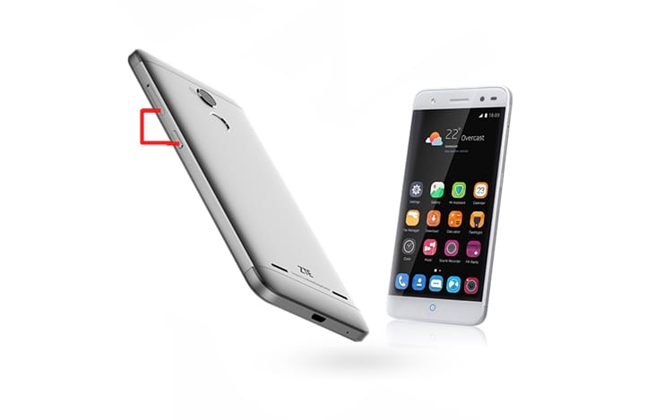 Como capturar a tela no smartphone ZTE