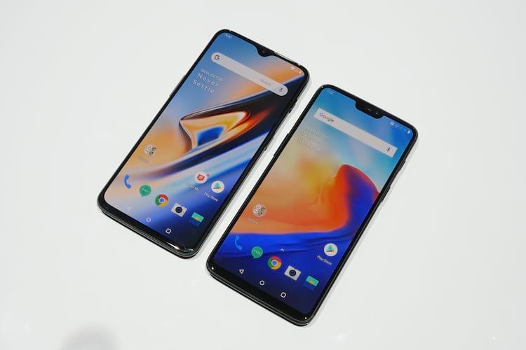 OnePlus 6T e OnePlus 6