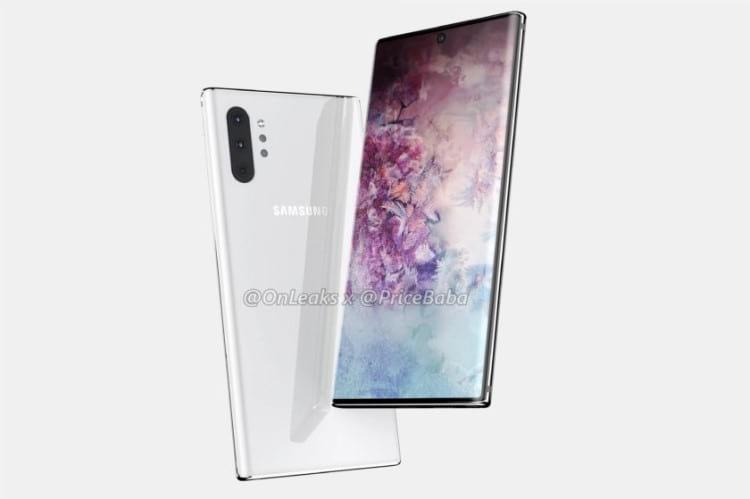 Renderizações Galaxy Note 10