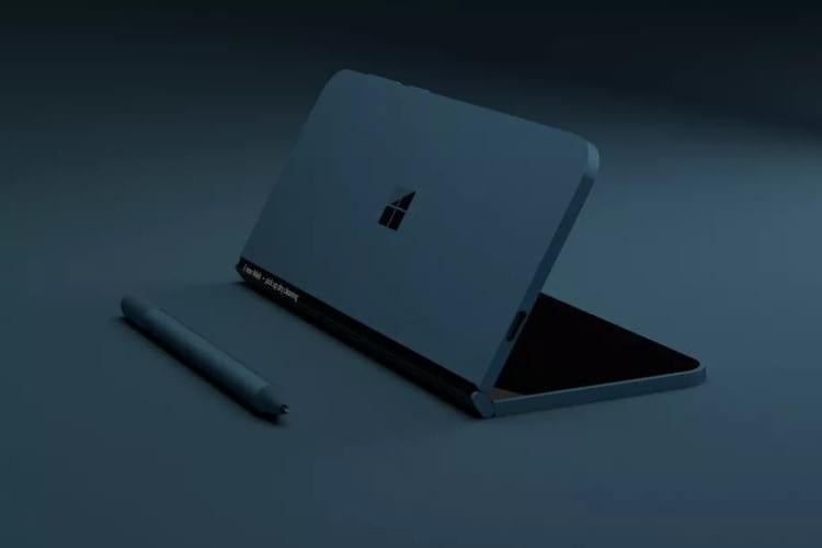 Imagem do conceito do dispositivo da Microsoft