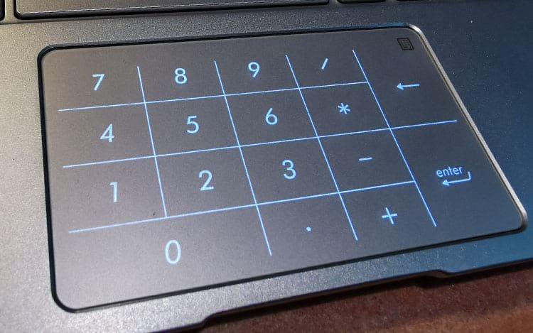 Touchpad + Numpad - ASUS Zenbook