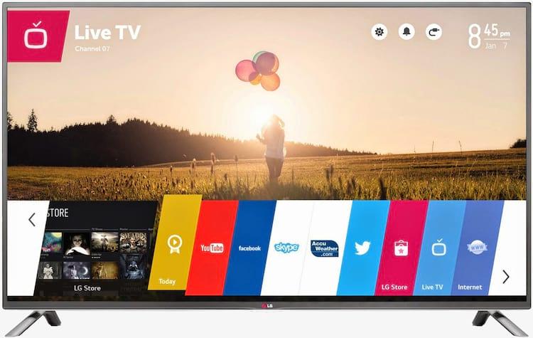 O webOS da LG disponível em televisões da marca.