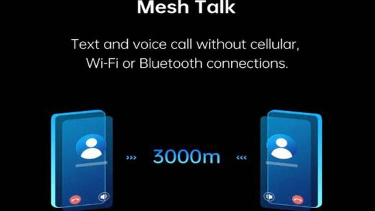 Oppo MeshTalk permite que usuários mandem mensagens e façam ligações sem uso de dados móveis, bluetooth ou Wi-Fi.