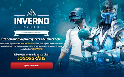 "Nuuvem cria evento ""Inverno Gamer"" para concorrer com o ""Summer Sale"" da Steam"