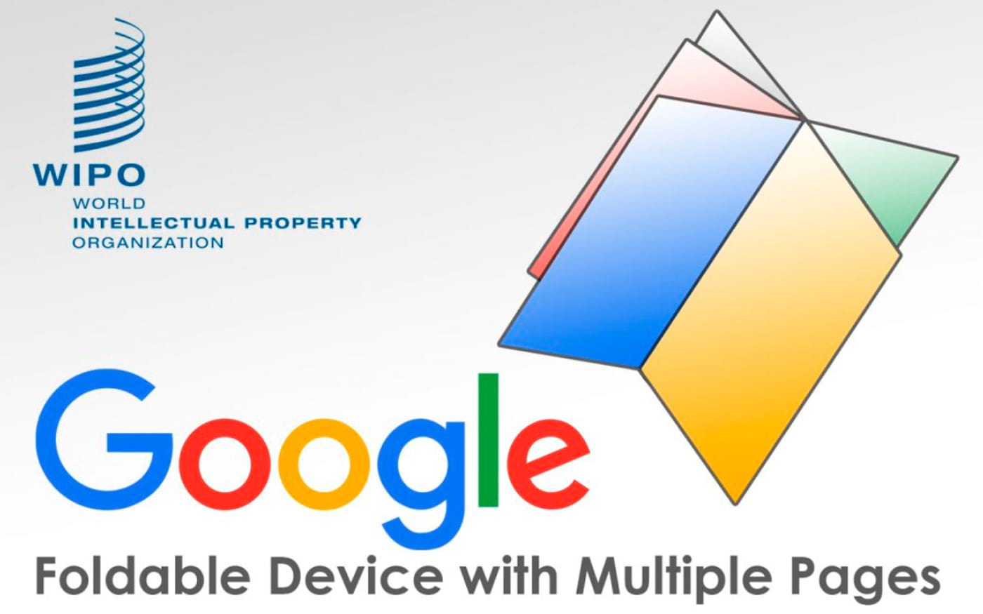 Patente do Google mostra dispositivo dobrável com múltiplas telas.