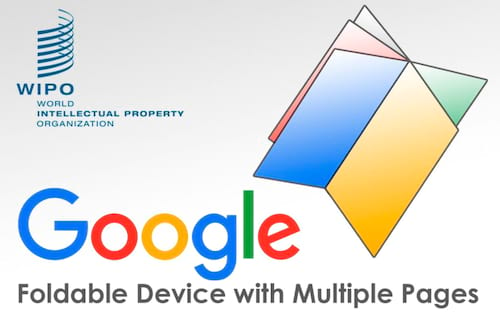Patente do Google mostra dispositivo dobrável com múltiplas telas.