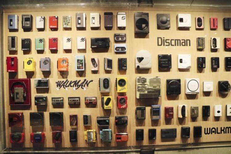 Walkman Wall - Foto por/Photo by: KYODO