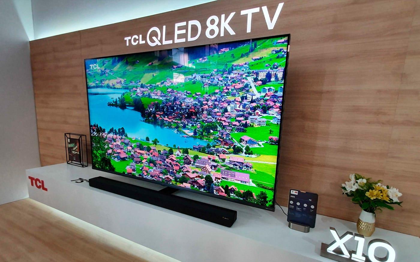 TCL anuncia a TV X10s, sua TV 8K com inteligência artificial de 75 polegadas