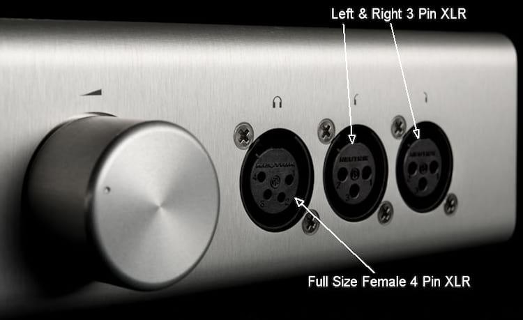 Amplificador balanceado com soquete XLR de 4 pinos um um XLR Duplo de 3 pinos