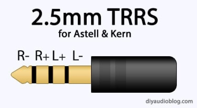 Conector balanceado TRRS de 2,5mm