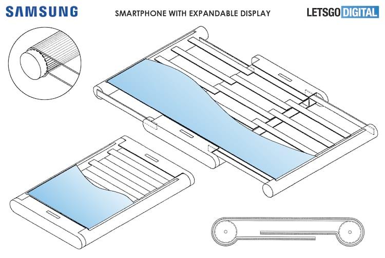 Documento mostra como funcionaria smartphone com tela retrátil.