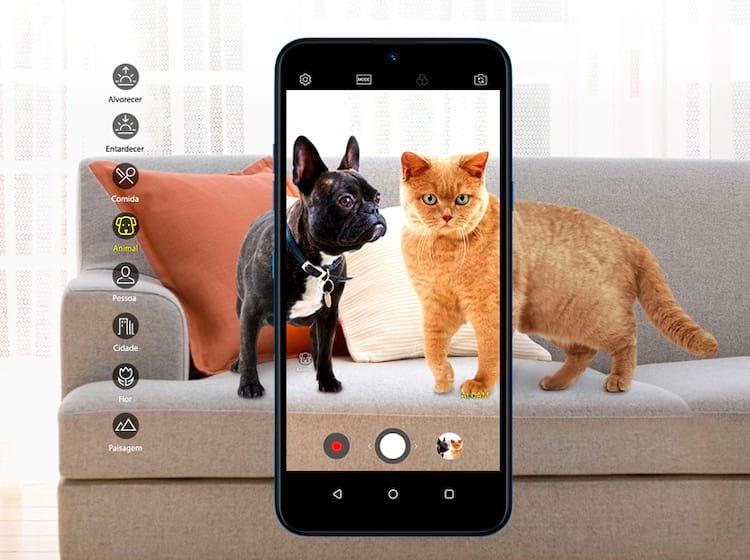 Inteligência artificial presente na câmera identifica as cenas