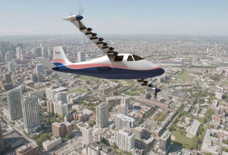 Imagem ilustrativa do avião elétrico